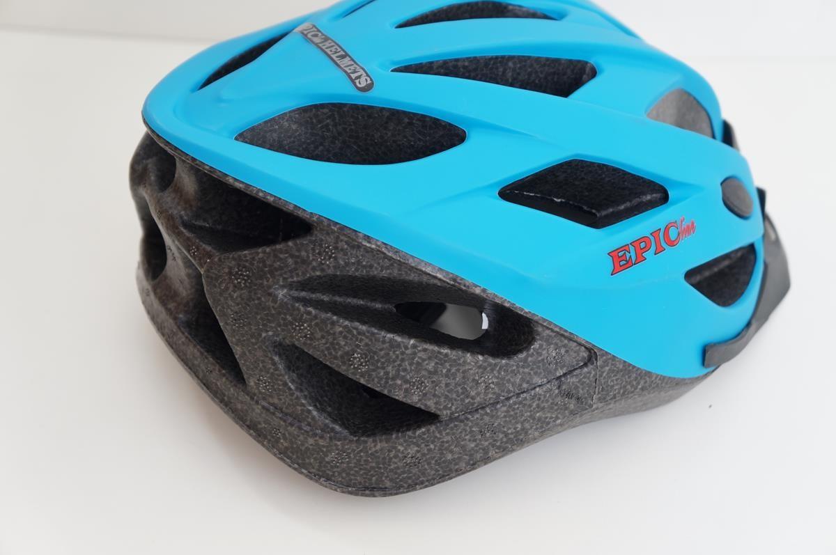 Capacete Bike Epic Line Mv23 Cor Azul Tamanho G Com Viseira