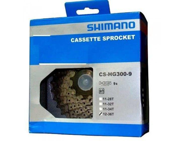 Cassete Bicicleta Shimano Acera Hg300-9 12-36 dentes 27 Velocidades