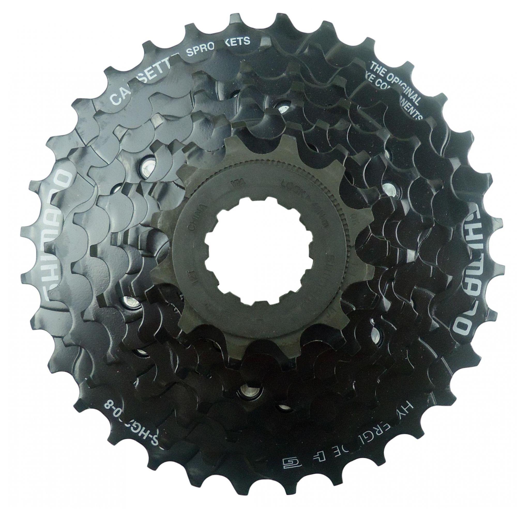 Cassete Bicicleta Shimano Altus Hg200-8 12-32 8 Velocidades cor Preto MTb ou Speed