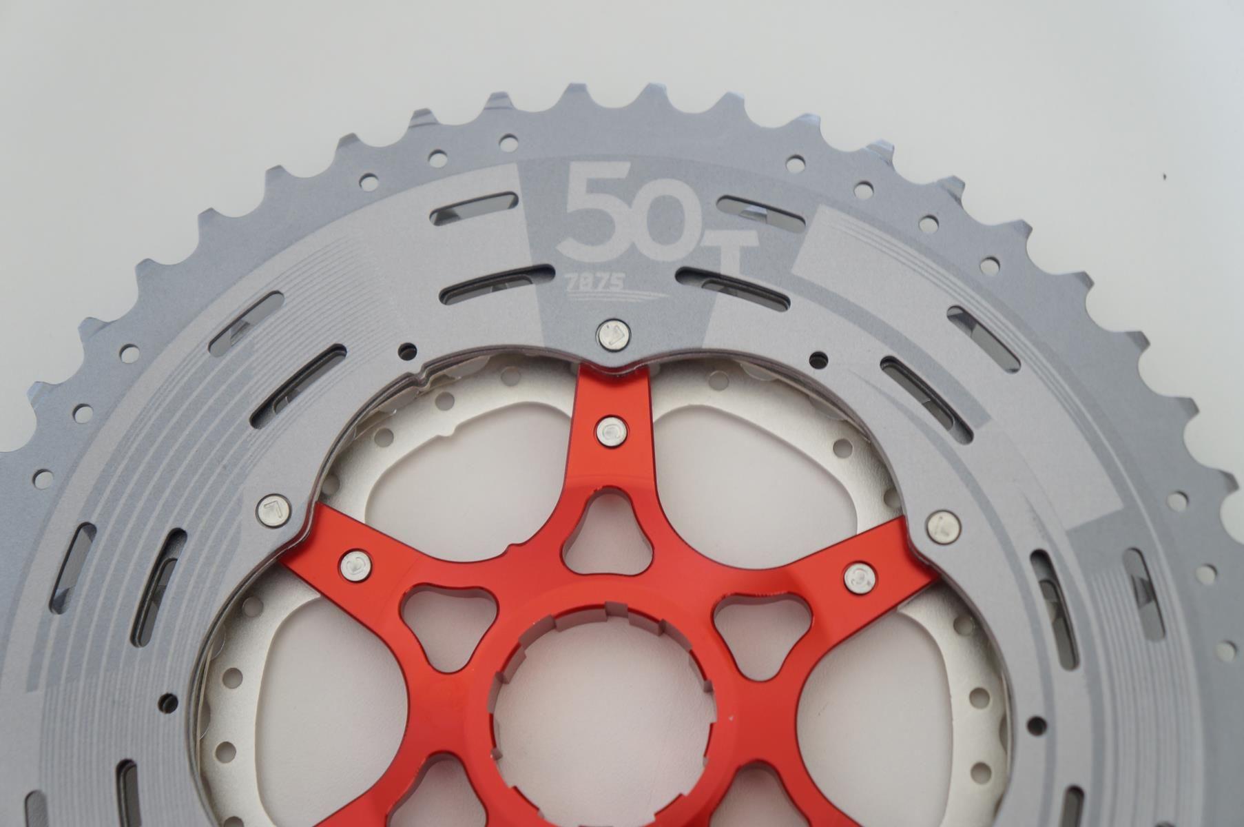 Cassete Bicicleta Sunrace MX80 11 Velocidades 11-50T padrão Shimano