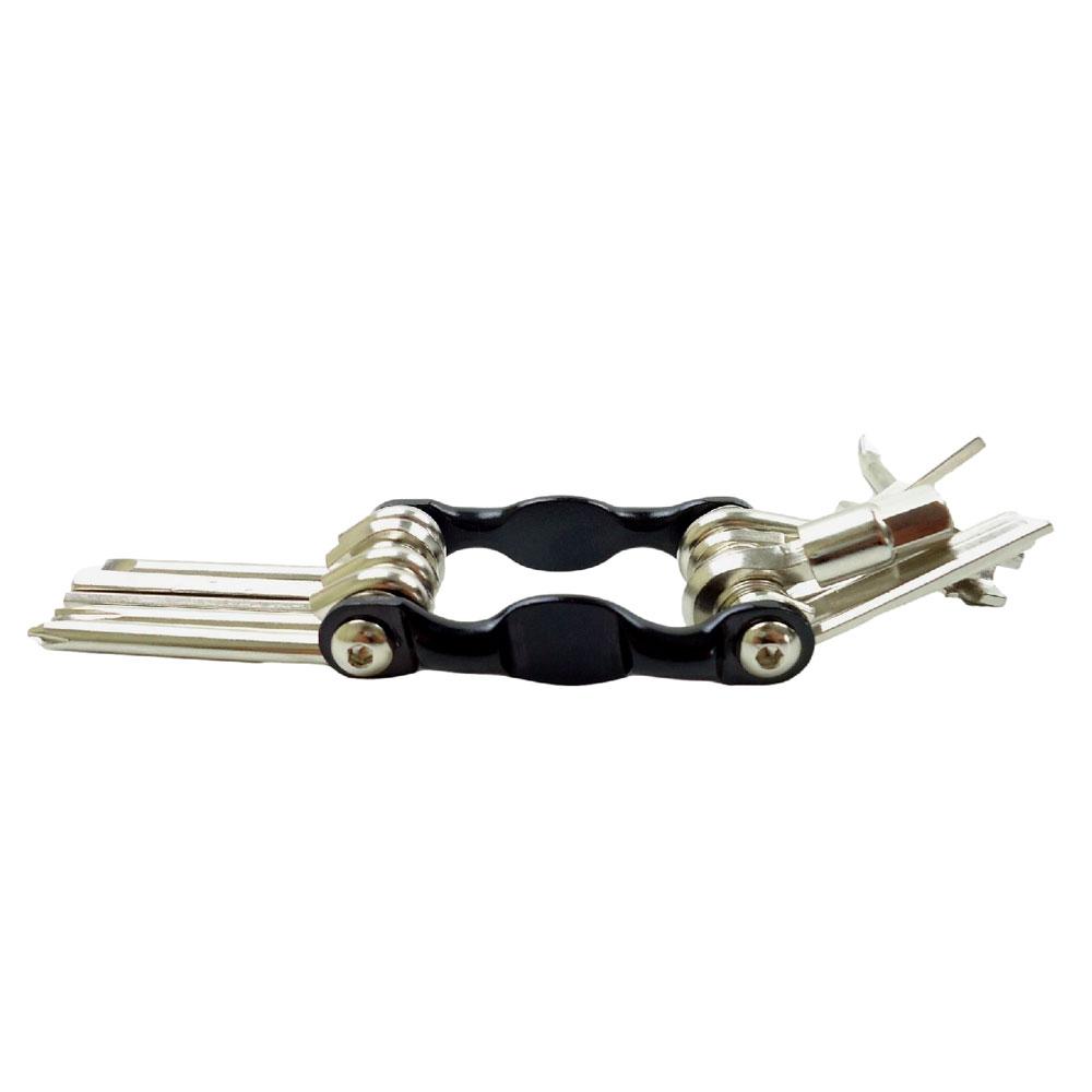 Chave Canivete Multi-função Para Bicicletas JWS 12 Funções Com Extrator Pino Corrente