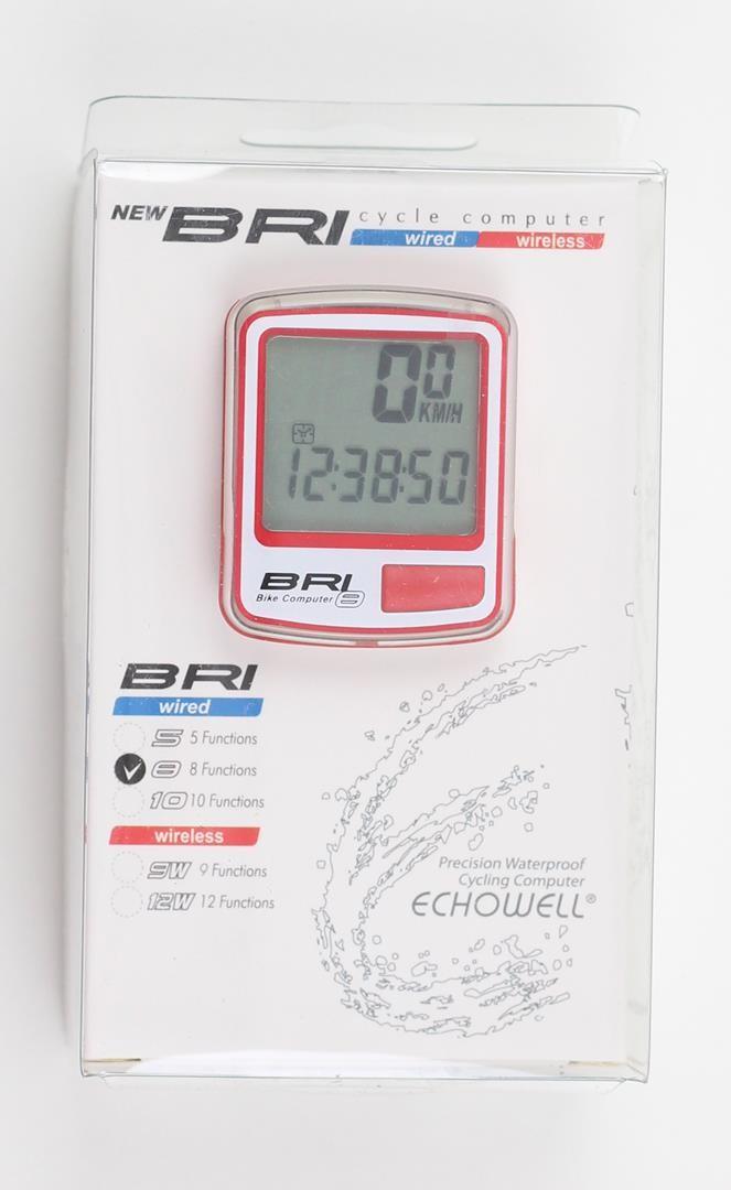 Ciclocomputador Bicicleta Echowell Bri 8 funções Velocimetro com Fio