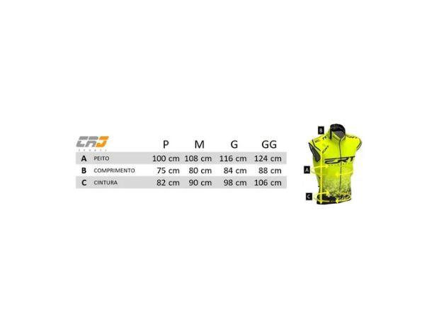 Colete Corta Vento Ert Bike Team Amarelo 2020 Mtb Speed Com Refletivo