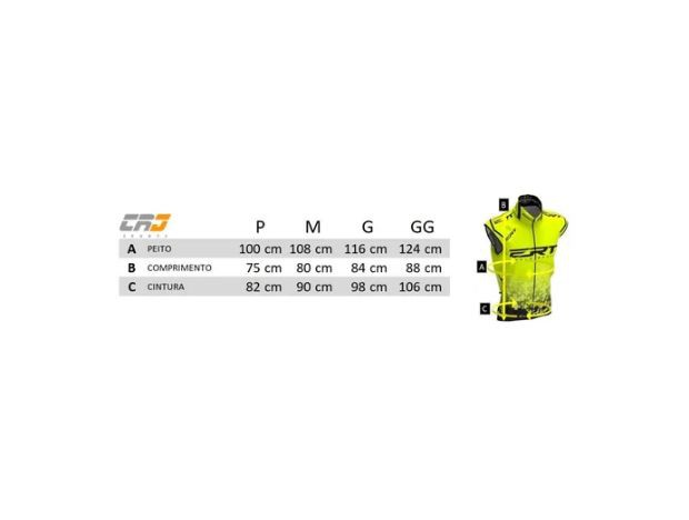 Colete Corta Vento Ert Bike Campeão Mundial Preto Mtb Speed