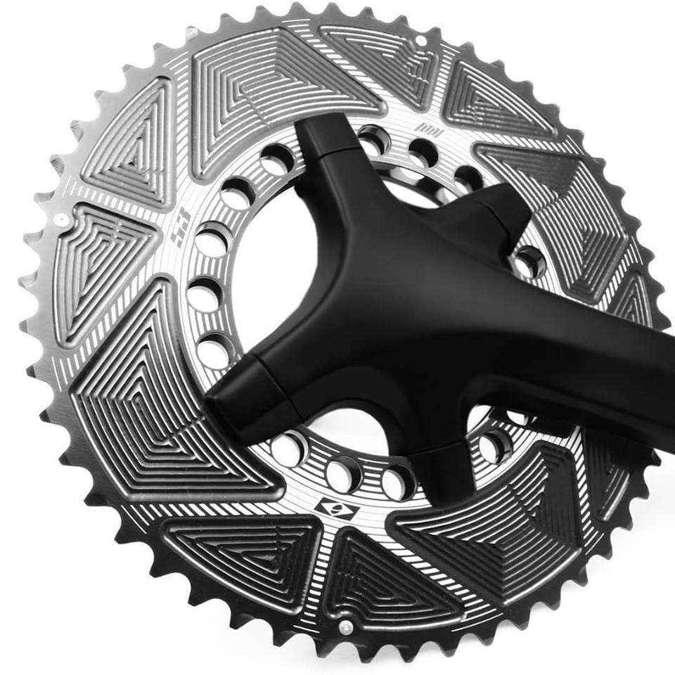 Coroas Dupla Bicicleta Speed Nottable 52-36 para Pedivelas 4-5 Furos BCD 110mm Serve Shimano Tiagra 105 Ultegra Dura-ace