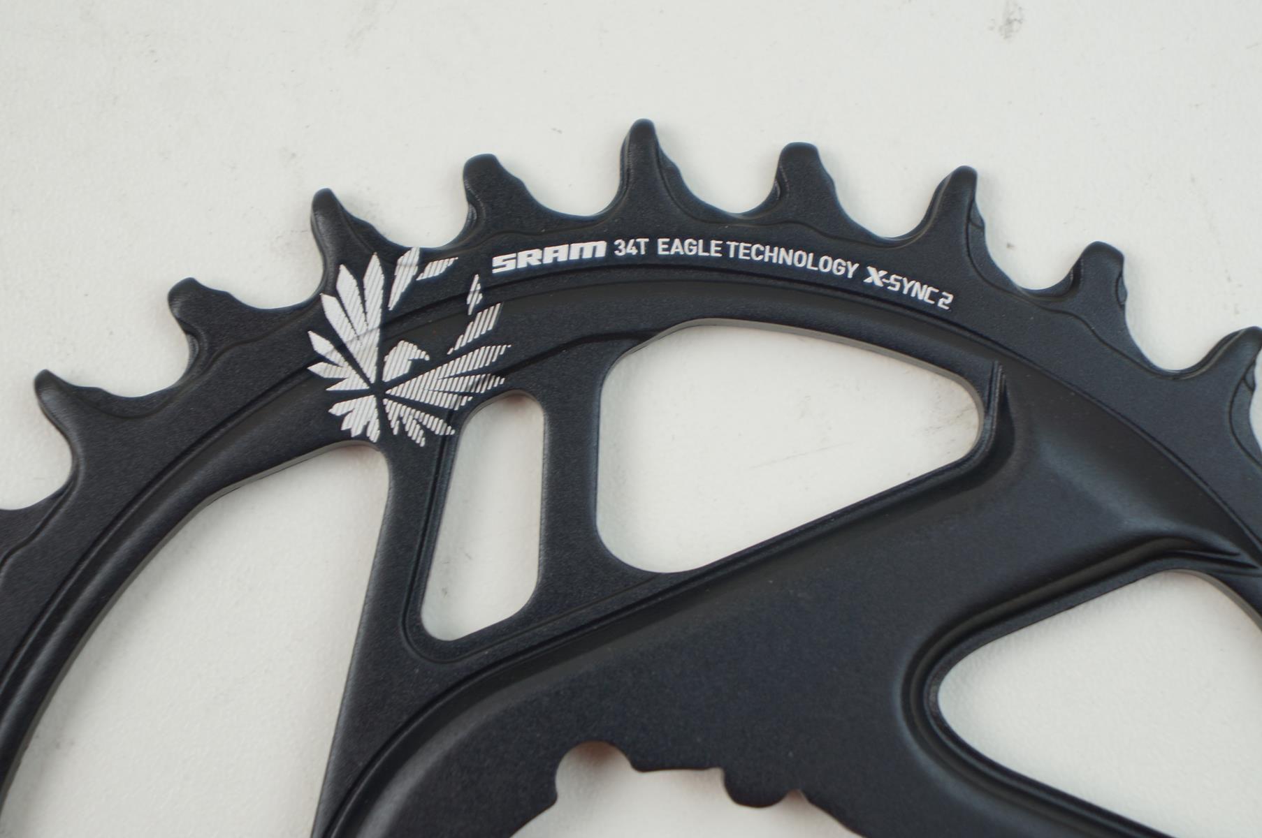 Coroa Bicicleta Sram GX Eagle 34t Preta Para Uso 1x12 Off set 3mm