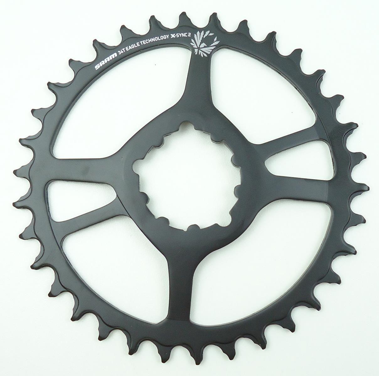 Coroa Bicicleta Sram NX Eagle 34t Boost Preta em Aço Para Uso 1x12 Off set 3mm GX XX1