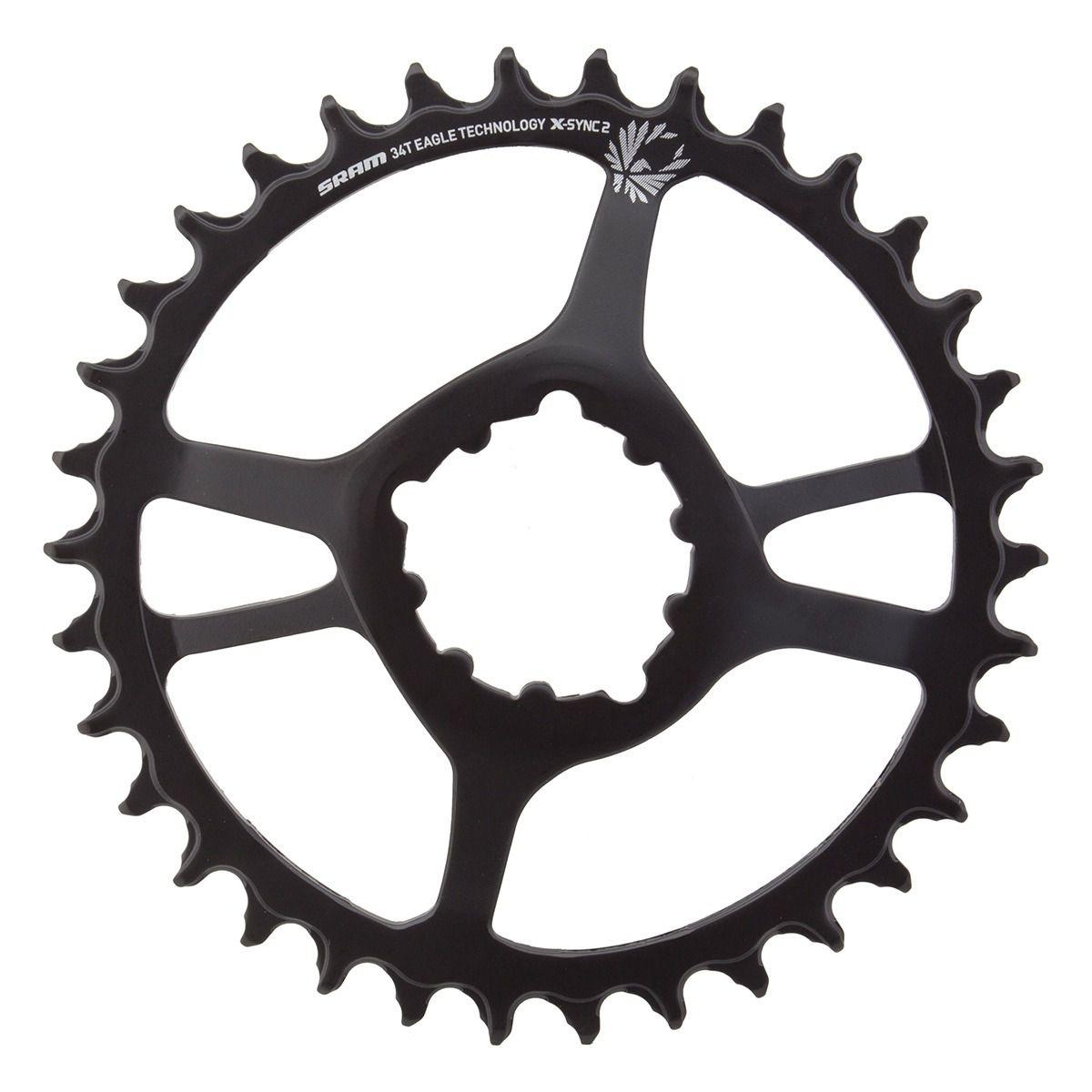Coroa Bicicleta Sram NX Eagle 34t Preta em Aço Para Uso 1x12 Off set 6mm GX XX1