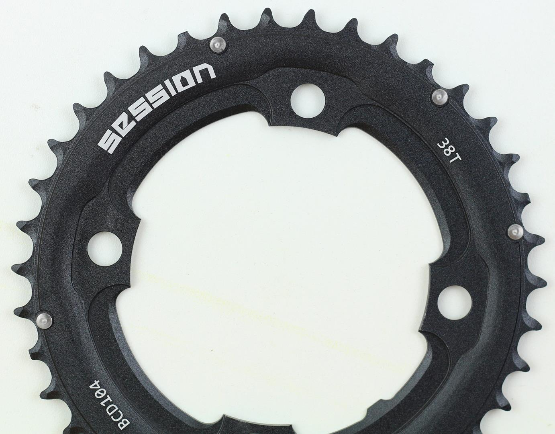 Coroa Dupla Mtb Session 38 dentes 2x10 Bcd 104mm em Aluminio Serve para Shimano