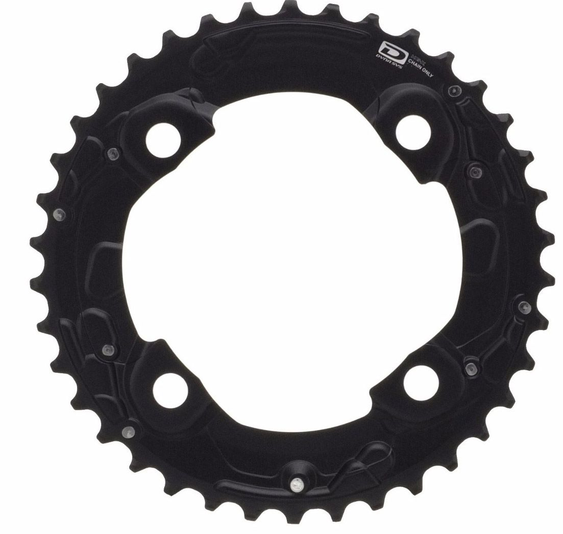 Coroa Mtb Shimano Deore M615 38T AM 2x10 Bcd 104mm 10 Velocidades