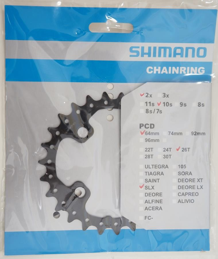 Coroa Menor Pedivela Mtb Shimano Deore SLX M675 26 dentes Bcd 64mm 10 Velocidades
