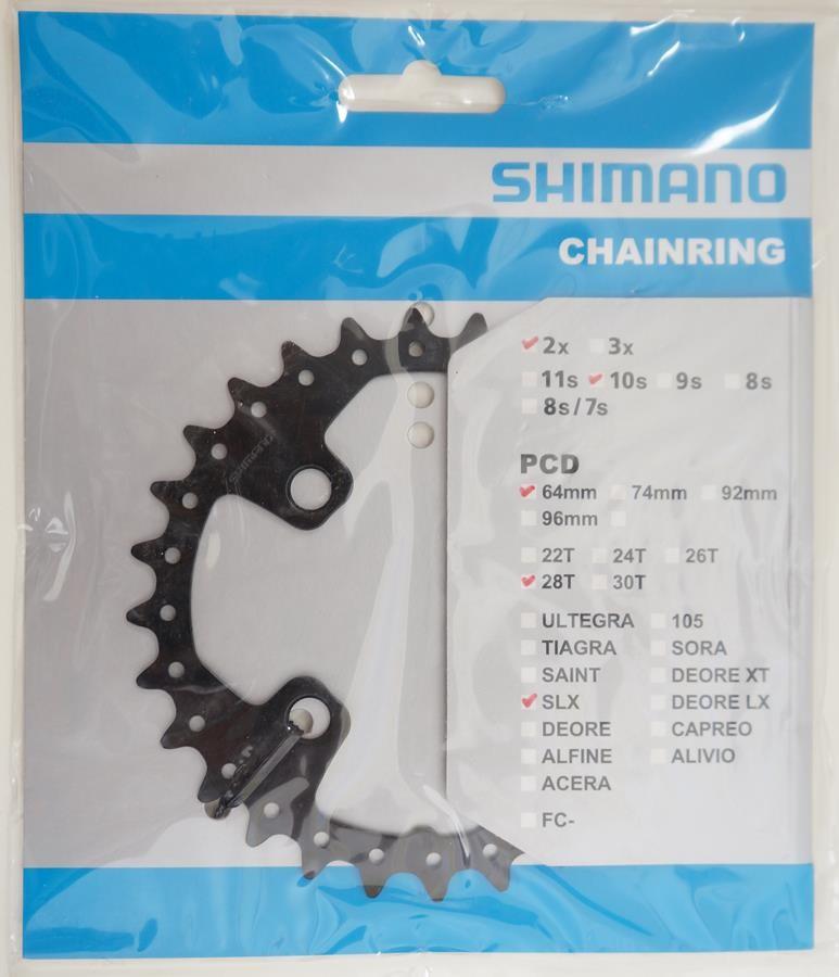 Coroa Mtb Shimano Deore Slx M675 28t Bcd 64mm 10 Velocidades