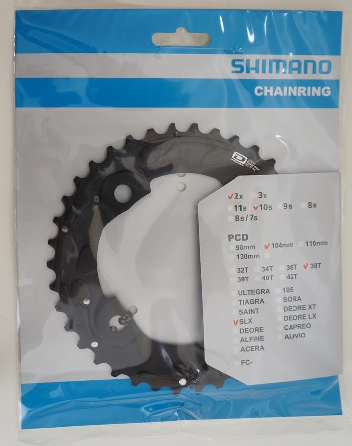 Coroa Mtb Shimano Deore Slx M675 38t AM Bcd 104mm 2x10