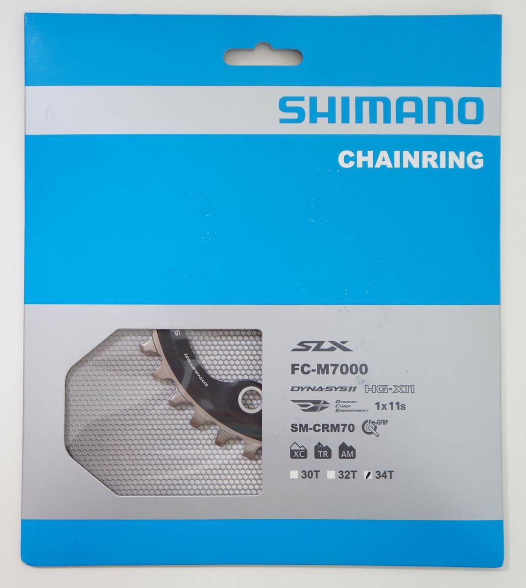 Coroa Mtb Shimano Deore SLX M7000 34t Bcd 96mm 11 Velocidades