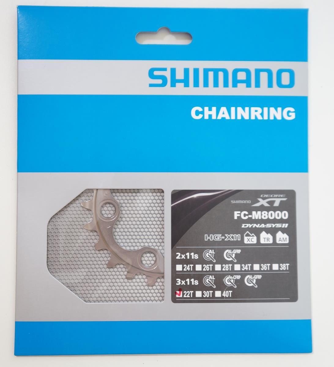 Coroa Mtb Shimano Deore Xt M8000 22t Bcd 64mm 11 Velocidades