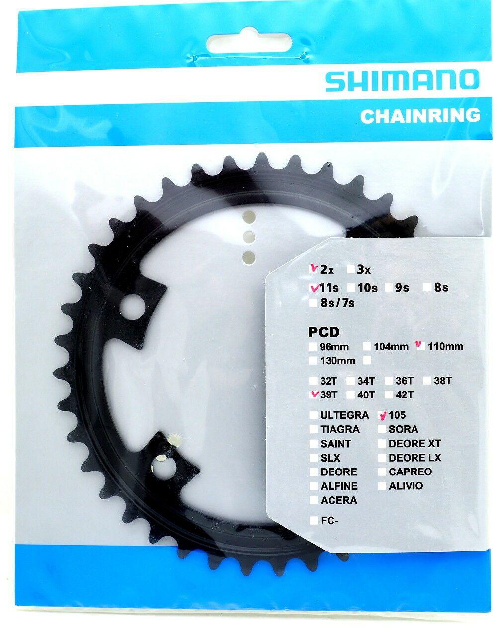 Coroa Speed Shimano 105 R7000 39 dentes 4 furos Bcd 110 11 Velocidades