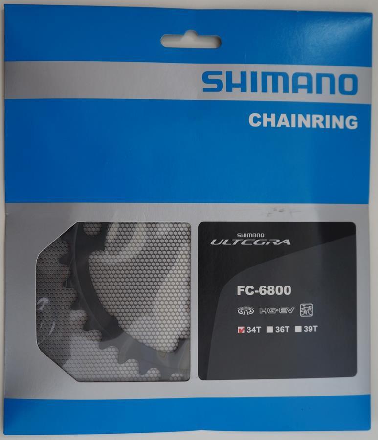 Coroa Speed Shimano Ultegra 6800 34 dentes Bcd 110 11 Velocidades