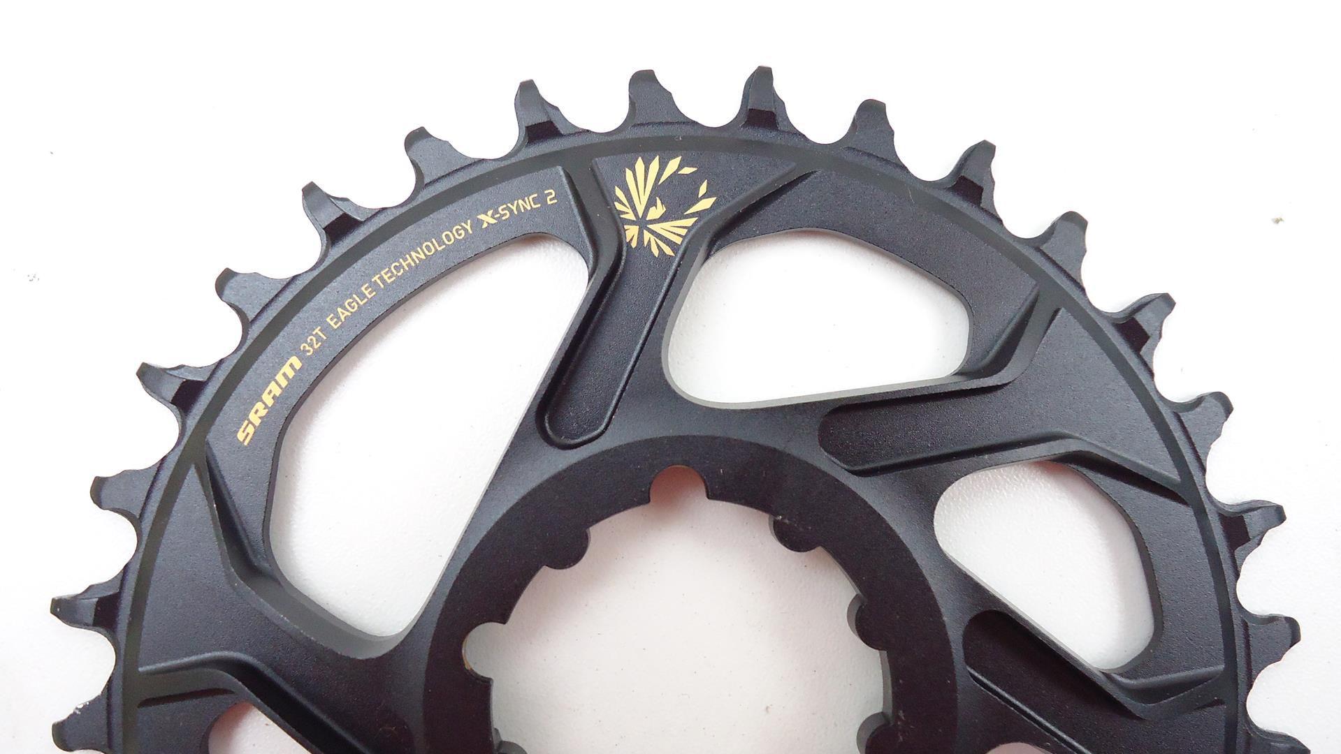 Coroa Unica Bicicleta Sram XX1 Eagle Gold 32 dentes Direct Mount 6mm Para Uso 1x12 GX X01 Eagle 12v