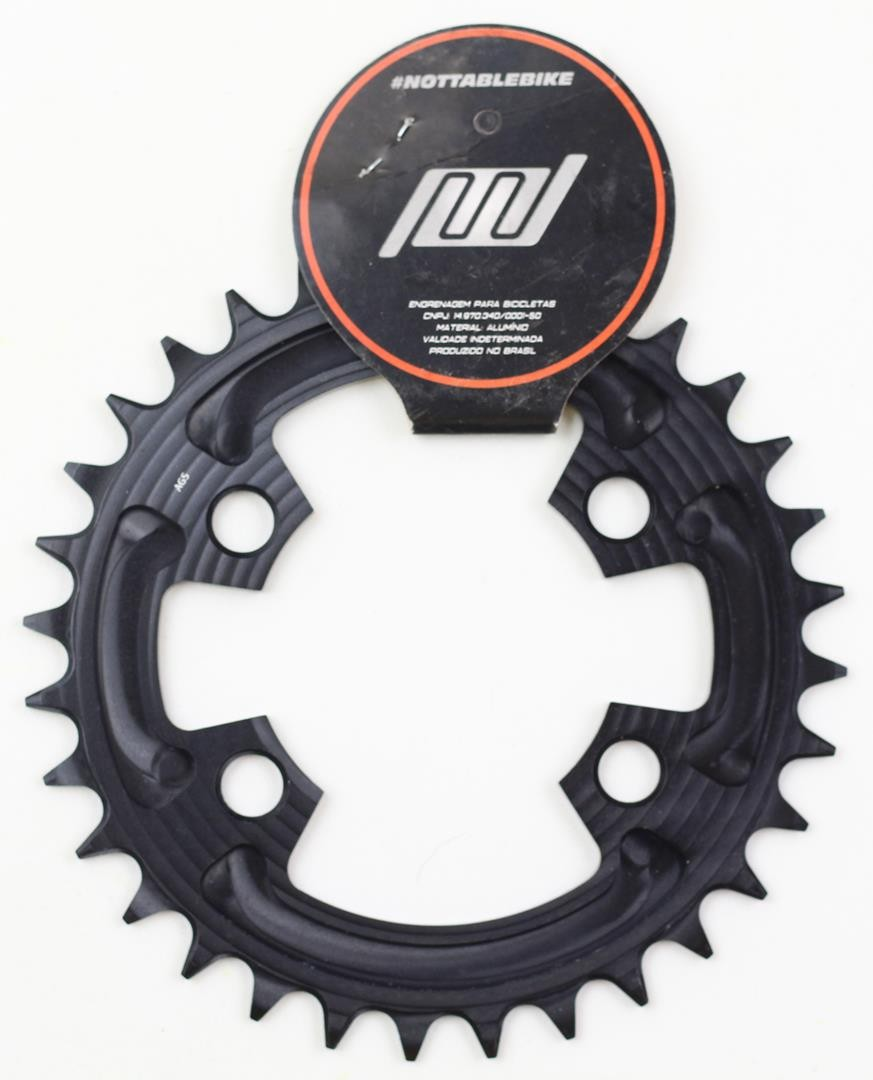 Coroa Unica Mtb Nottable 32 dentes Bcd 76mm Assimetrica Narrow wide para Pedivela Prowheel Cannondale Trail 2018