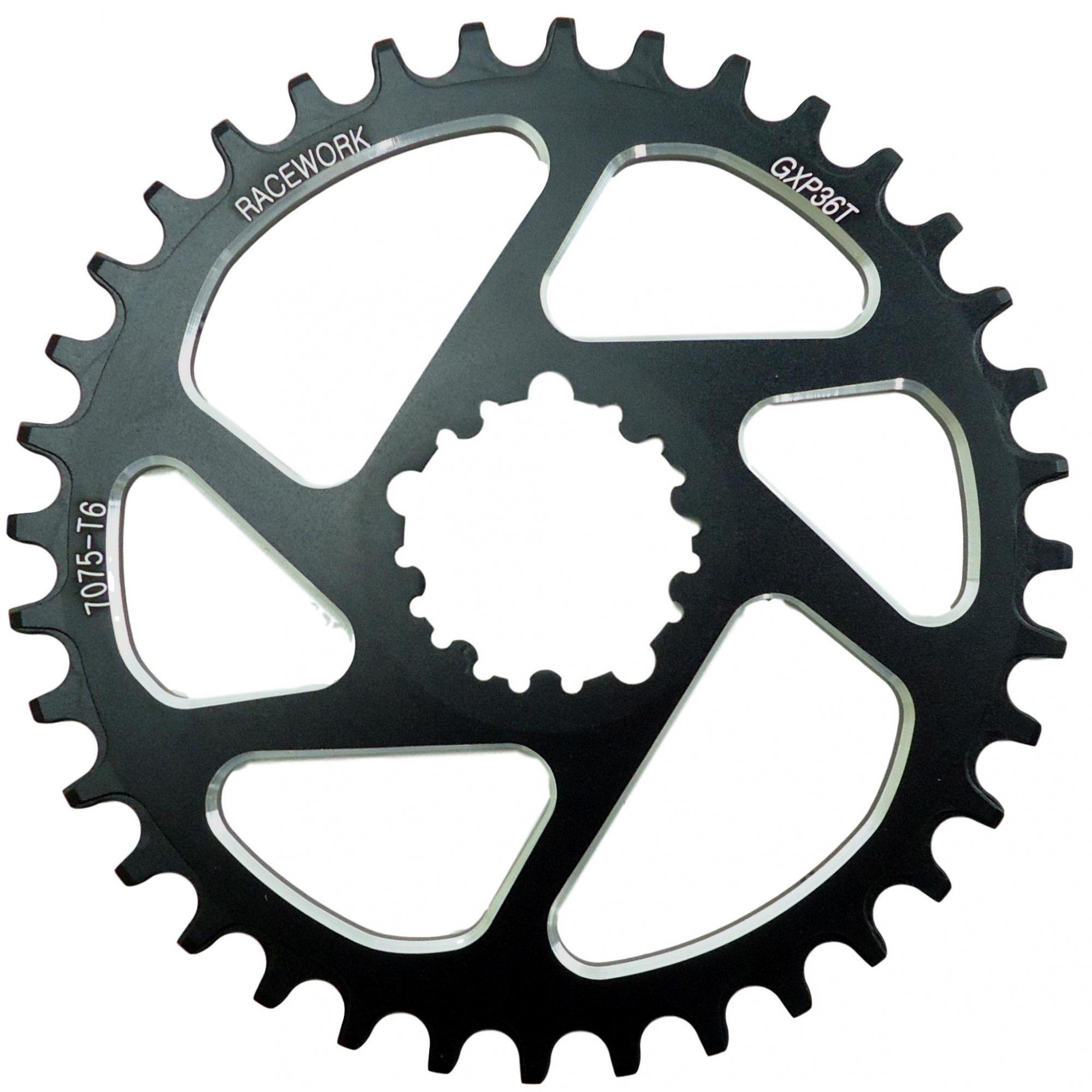 Coroa Unica Racework Para Pedivelas Sram 32 34 36 38 dentes Direct Mount 3mm Off Set Boost Para Uso 1x11 1x12