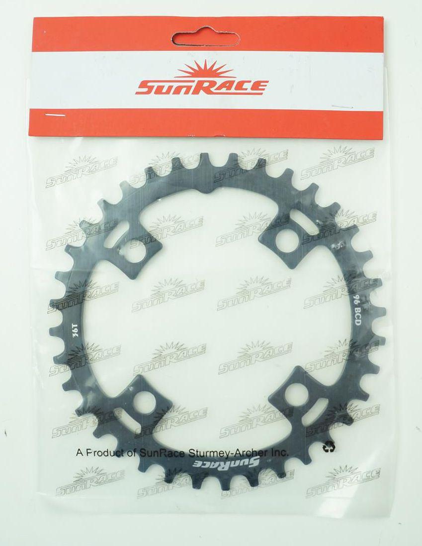Coroa Unica Sunrace 32 34 36 dentes Bcd 96mm Narrow wide em Aço para Shimano Alivio M4000 Acera M3000