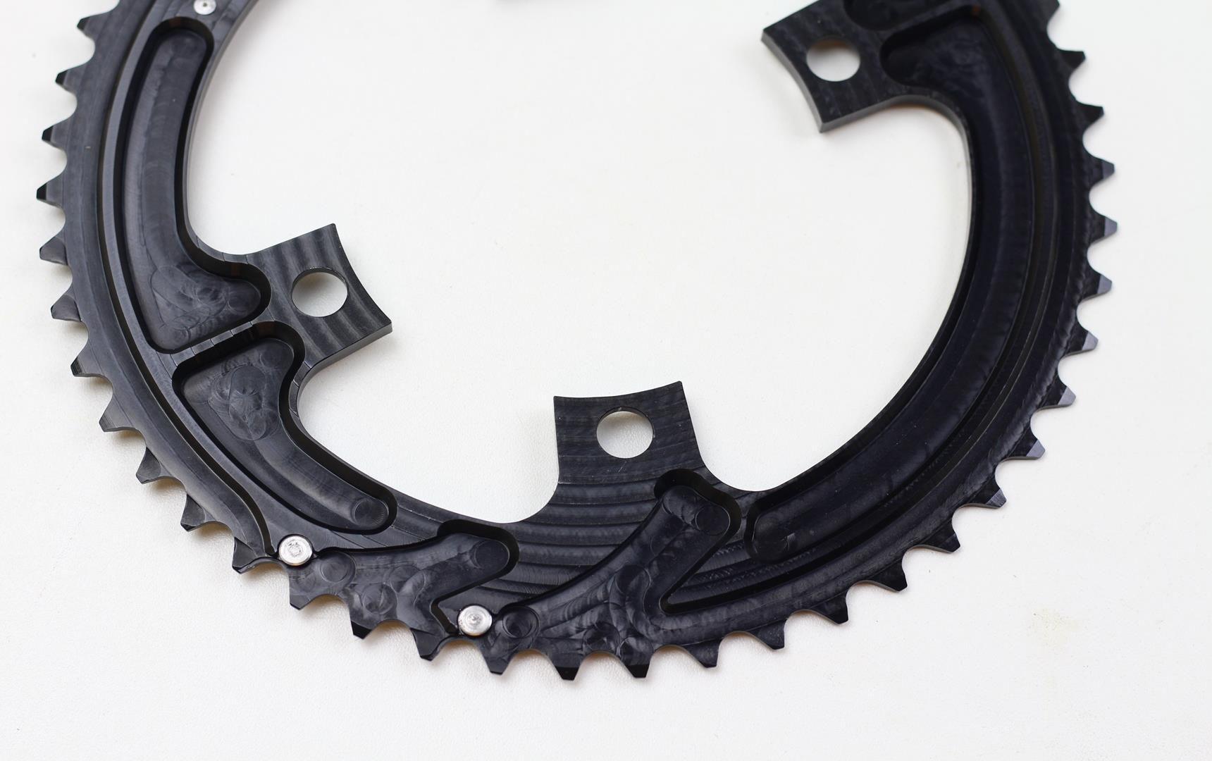Coroas Dupla Bicicleta Speed Nottable 50-34 para Pedivelas 4 Furos BCD 110mm Serve Shimano 105 Ultegra Dura-ace