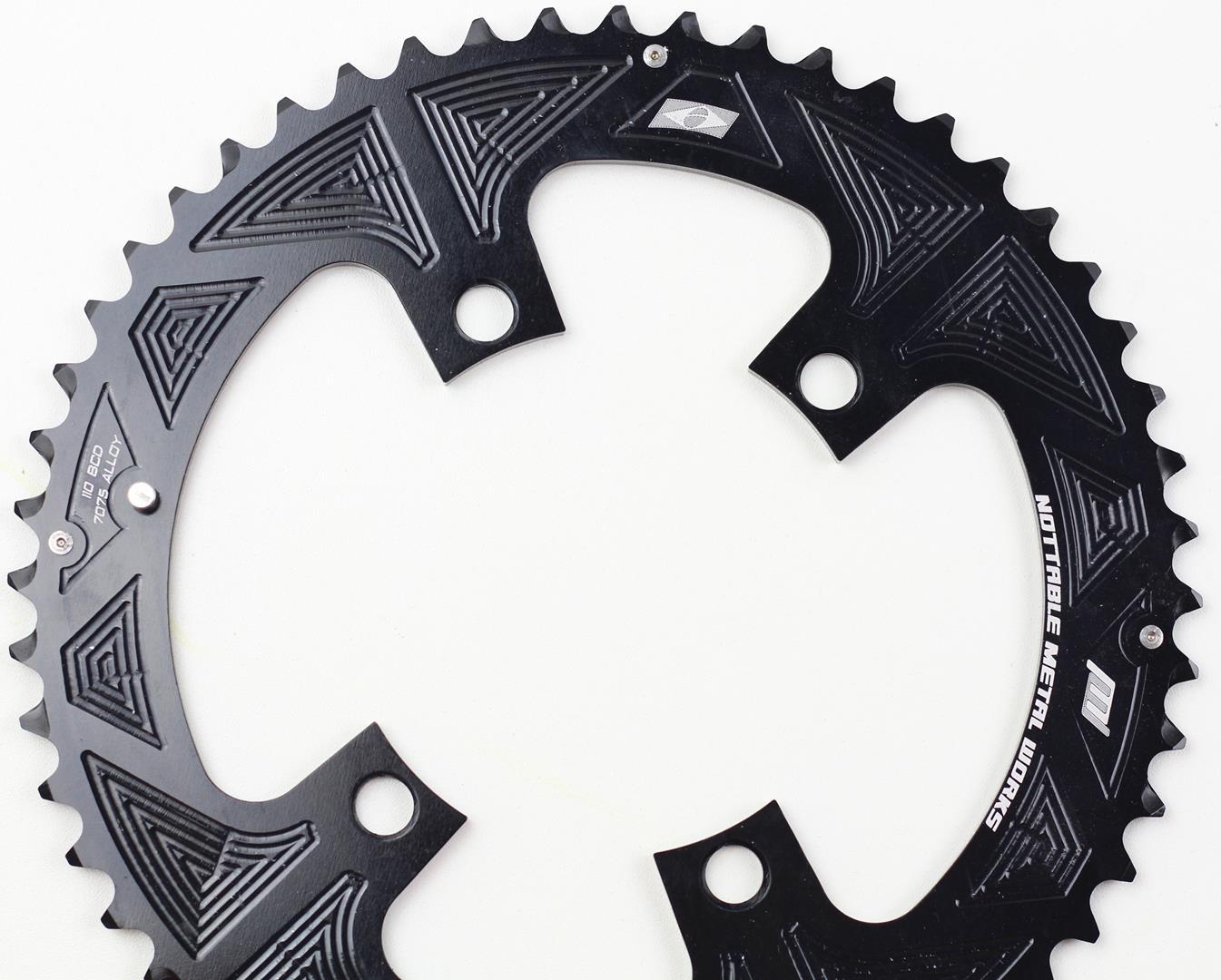 Coroas Dupla Bicicleta Speed Nottable 52-36 para Pedivelas 4 Furos BCD 110mm Serve Shimano 105 Ultegra Dura-ace