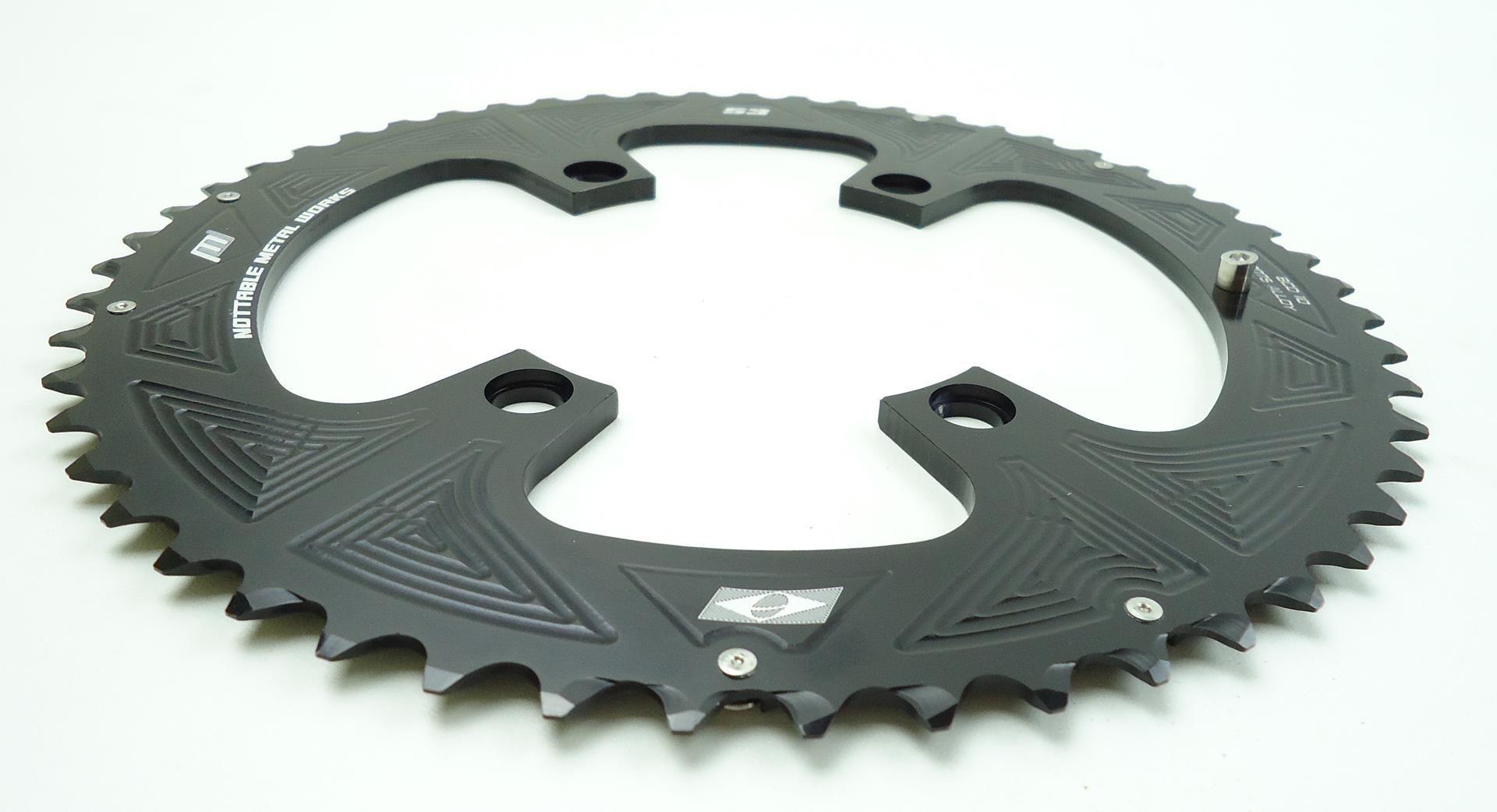 Coroas Dupla Bicicleta Speed Nottable 53-39 para Pedivelas 4 Furos BCD 110mm Serve Shimano 105 Ultegra Dura-ace