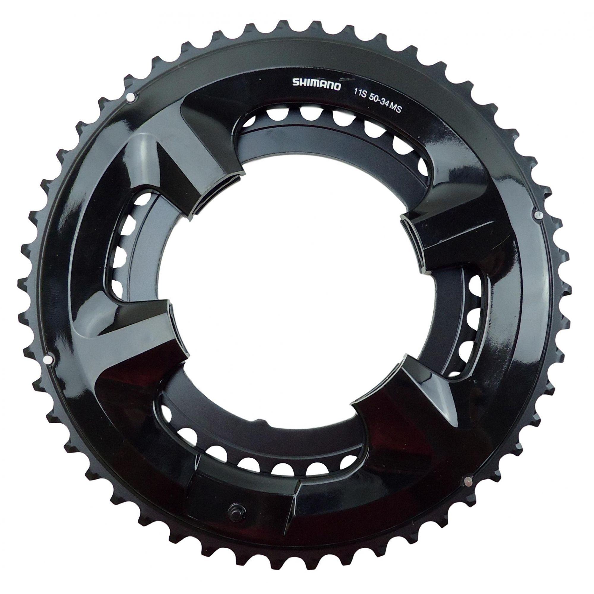Coroas Dupla Bicicleta Speed Shimano 50-34 dentes para Pedivelas Shimano Tiagra 105 Ultegra Dura-ace 4 Furos BCD 110mm