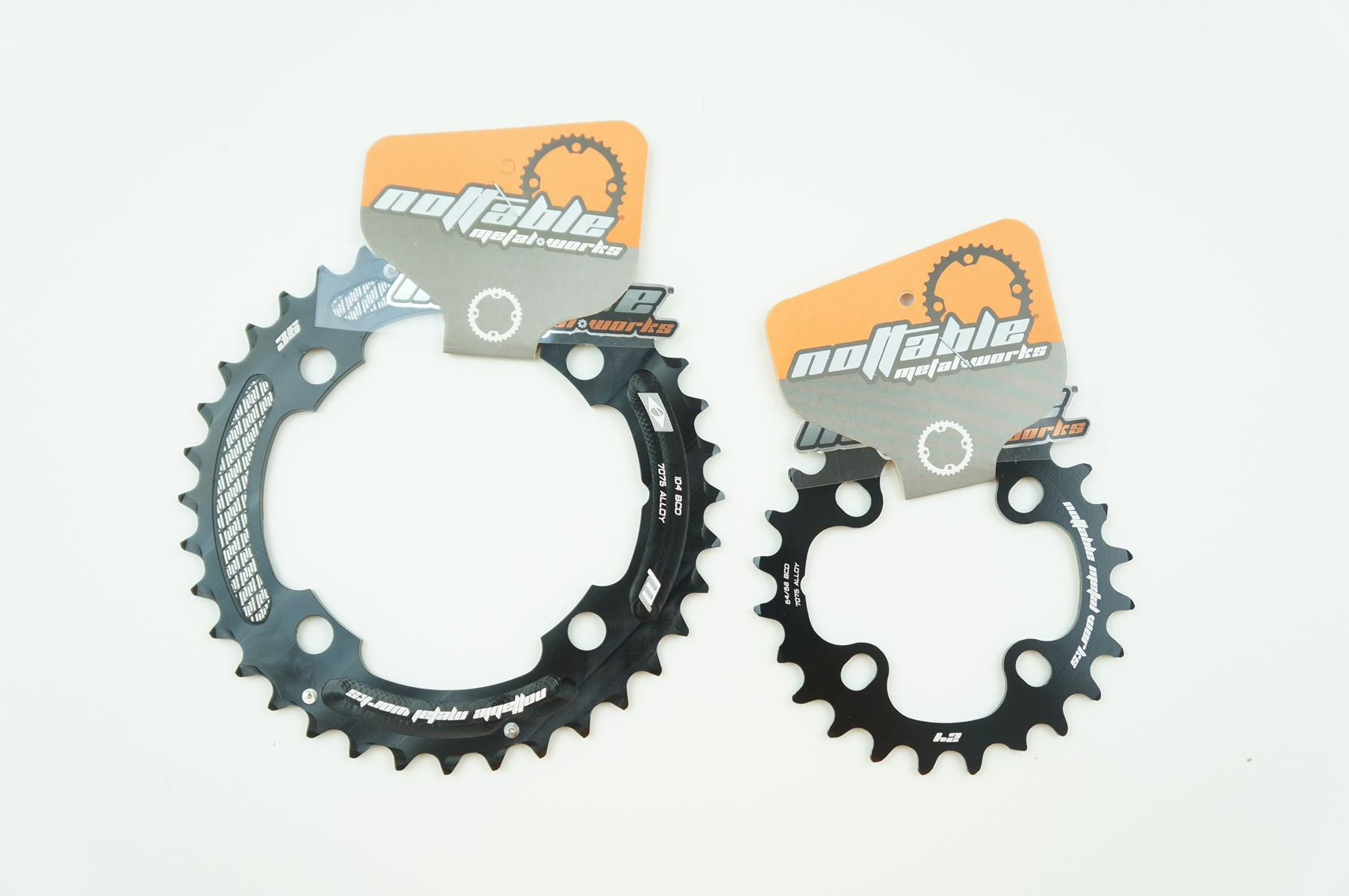Coroas Mtb Nottable 36 E 24t 2x10 Bcd 104mm Serve Em Sram Shimano