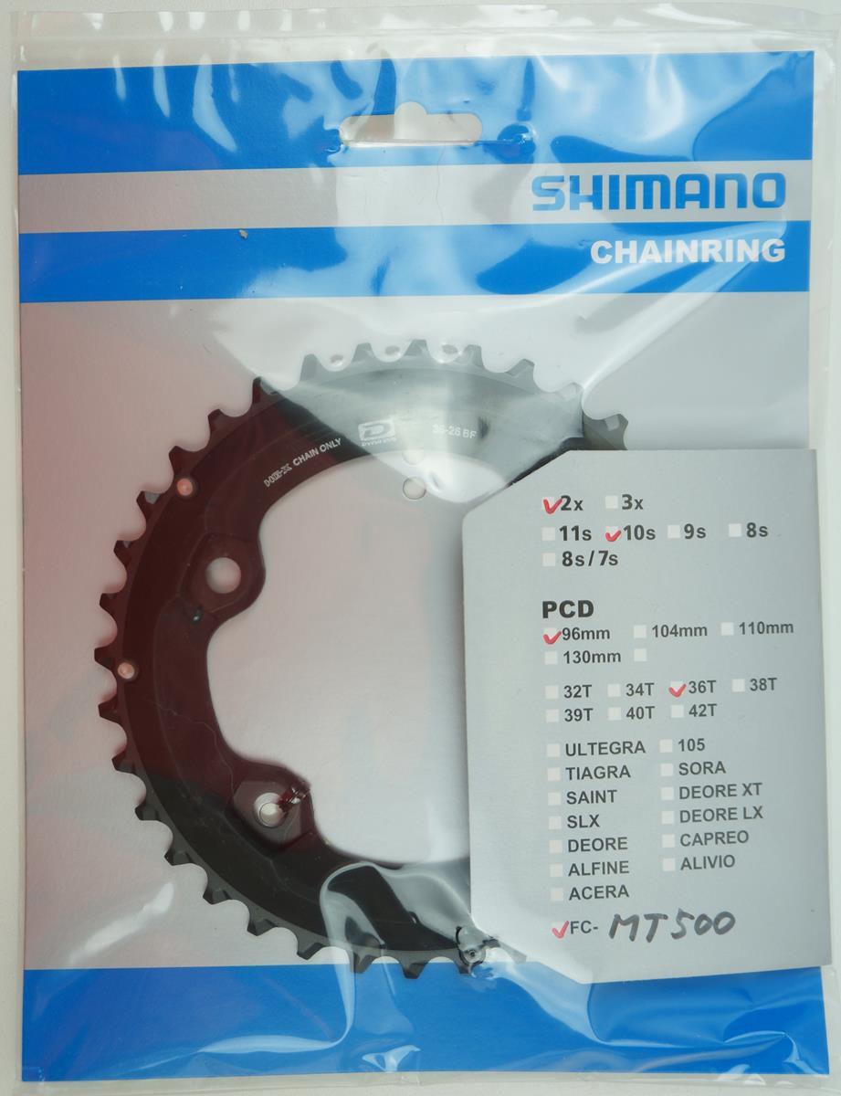Coroas MTB Shimano Deore M6000 2x10 36 e 26 dentes BCD 96mm