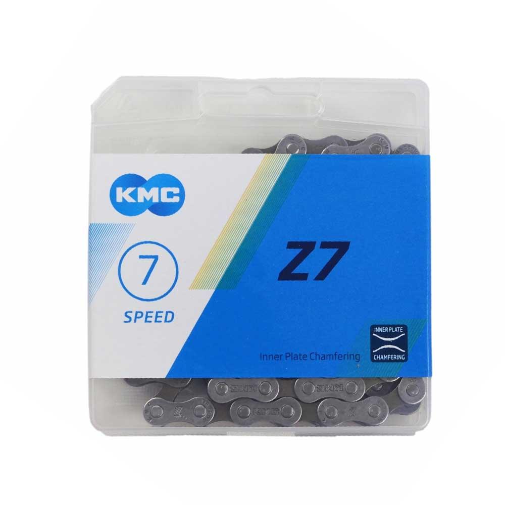 Corrente Bicicleta KMC Z7 Index 6-7-8 Velocidades 116 Links Serve em Shimano Sram X-time