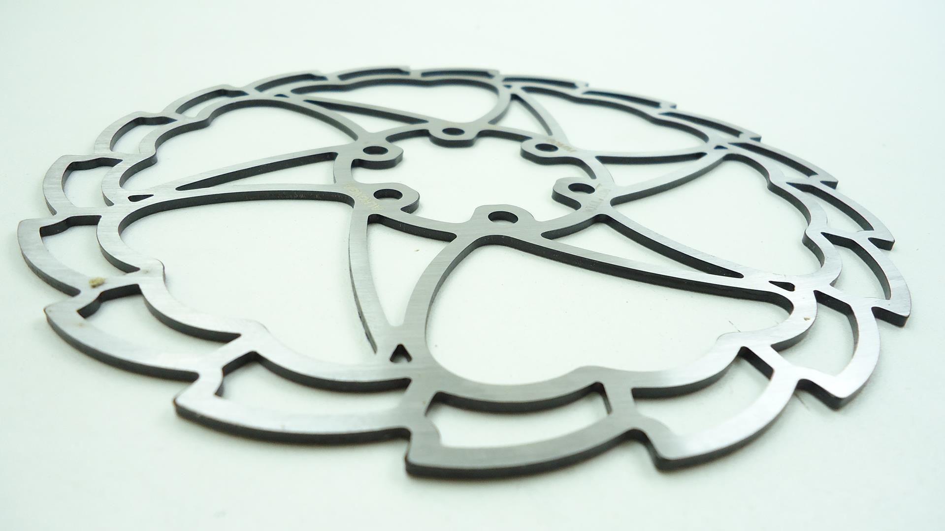 Disco de Freio Rotor Alhonga 160mm 6 Furos Ultralight em Aço Inox pra Bicicletas