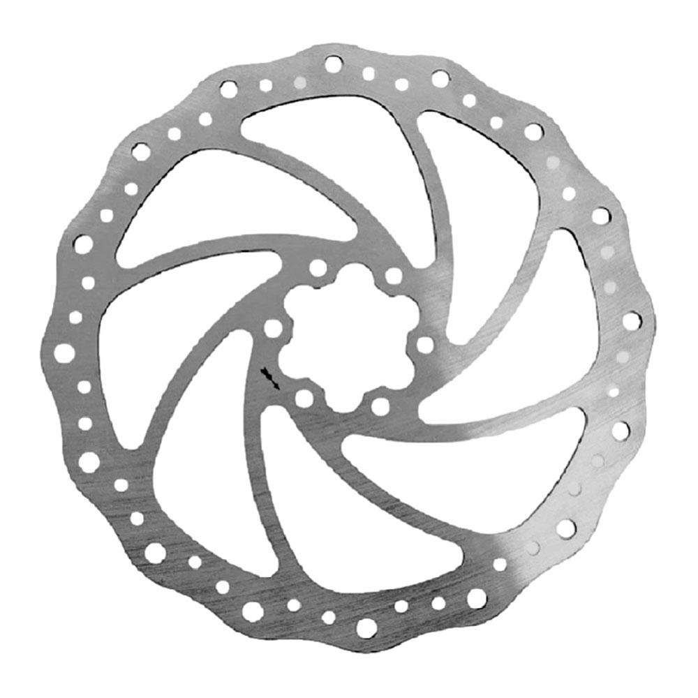 Disco de Freio Rotor Alhonga 203mm 6 Furos em Aço Inox pra Bicicletas
