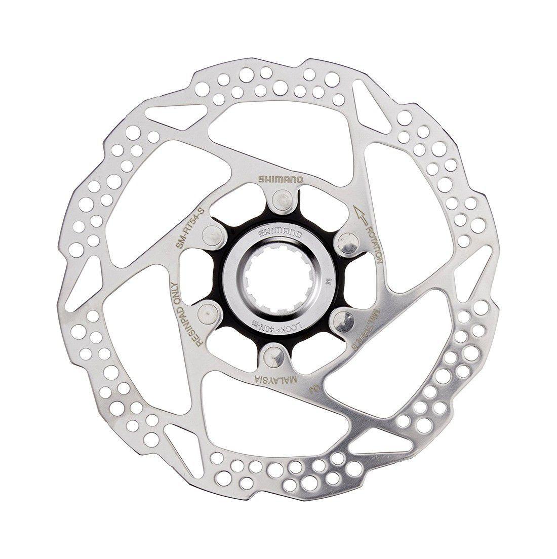 Disco De Freio Rotor Shimano Rt54 Inox 160mm Para Freios à Disco Fixação Center Lock