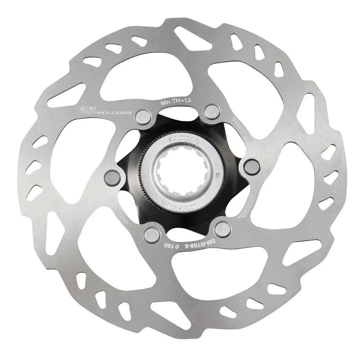 Disco De Freio Rotor Shimano SLX RT68 Icetech 160mm Para Freios à Disco Fixação Center Lock