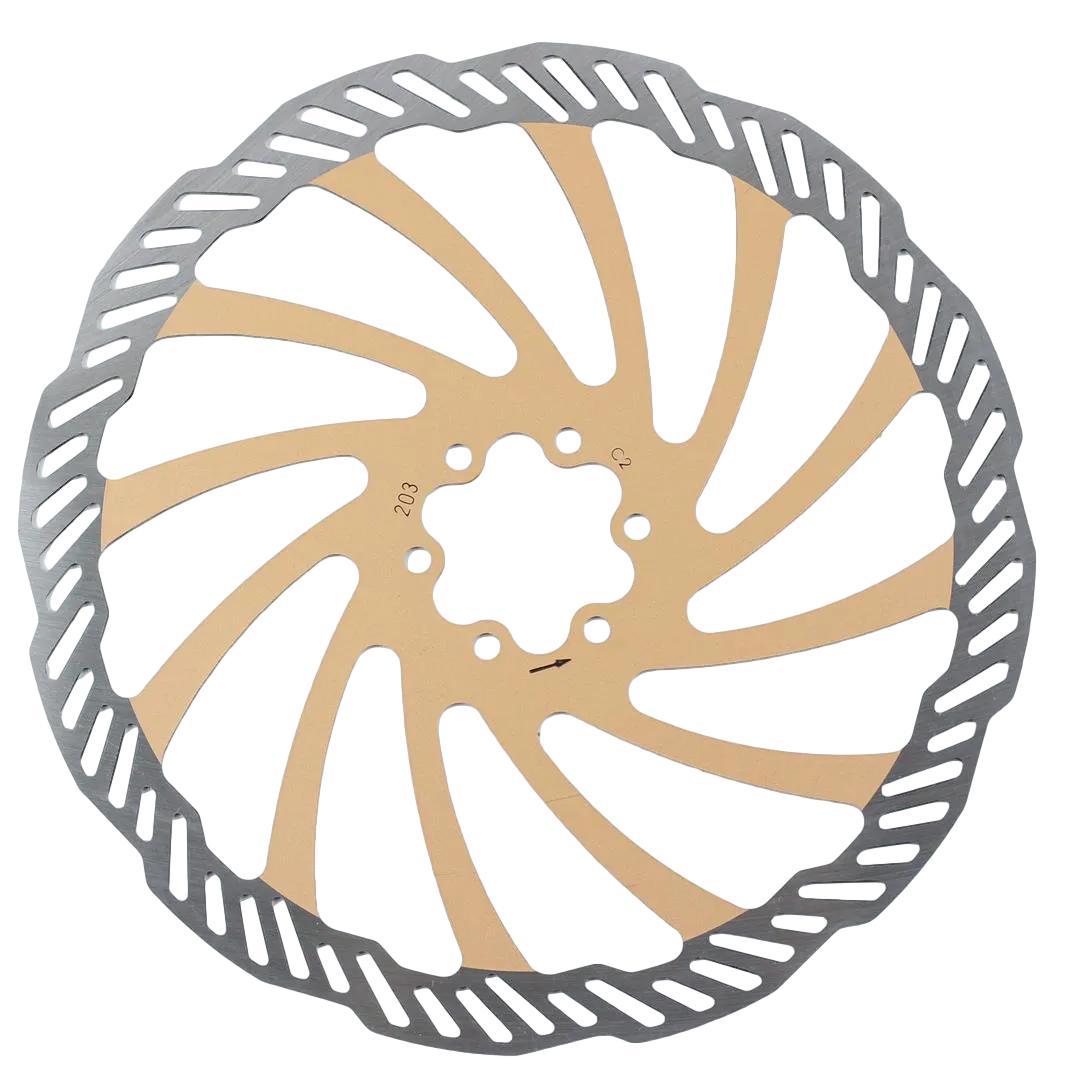 Rotor de Freio à Disco Bengal 203mm Cor Dourado Em Inox Fixação 6 Furos