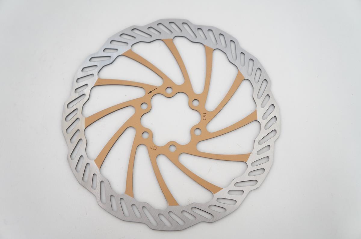 Disco Rotor Freio Bengal 160mm Cor Dourado Em Inox 6 Furos