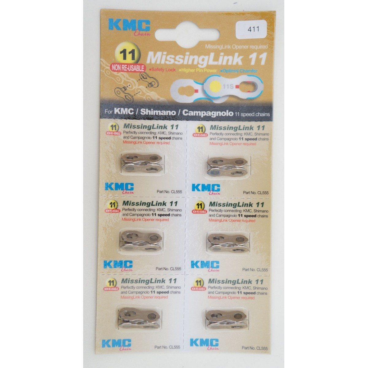 Elo mestre Missing Link KMC powerlink corrente 11v com 6 unidades