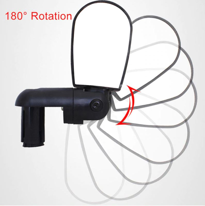Espelho Retrovisor para Bicicleta Rotação 360º Fixação no Guidão