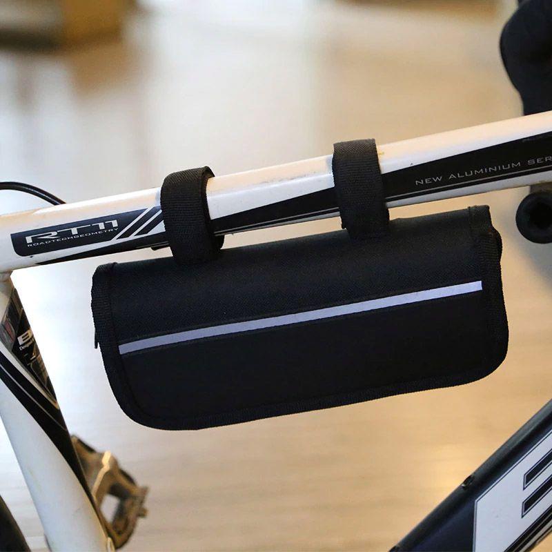 Estojo de Ferramentas JWS para Quadro Bicicleta com 6 peças Bomba Canivete Kit Remendo Espatulas e mais