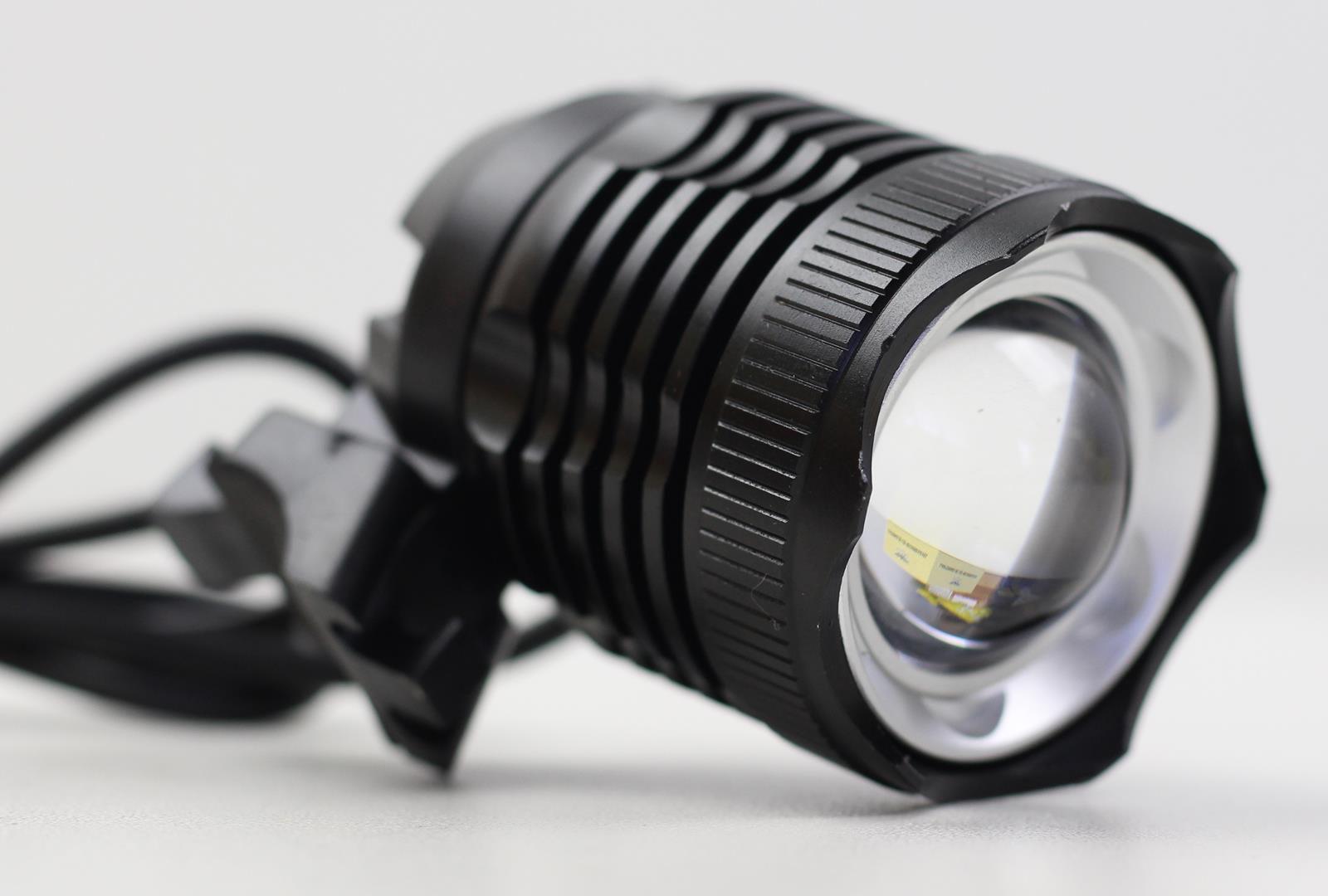 Farol para Bicicletas JWS JY-8867 com Super Led Cree T6 Bateria Recarregável de 6 células Zoom e Foco Ajustável