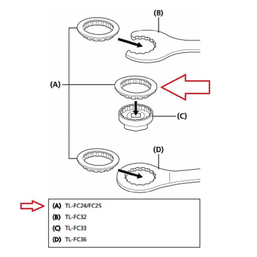 Ferramenta Shimano FC25 Para Instalação Movimento Central Rosca Shimano MT800 BBR60