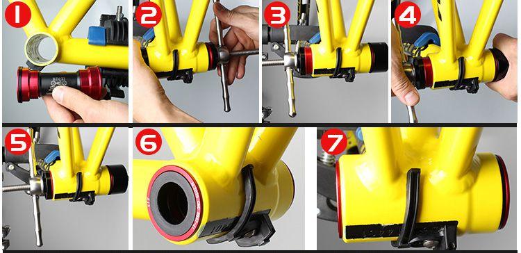 Ferramentas MUQZI para instalação e remoção de Rolamentos e Movimentos Pressfit BB30 PF30 BB92