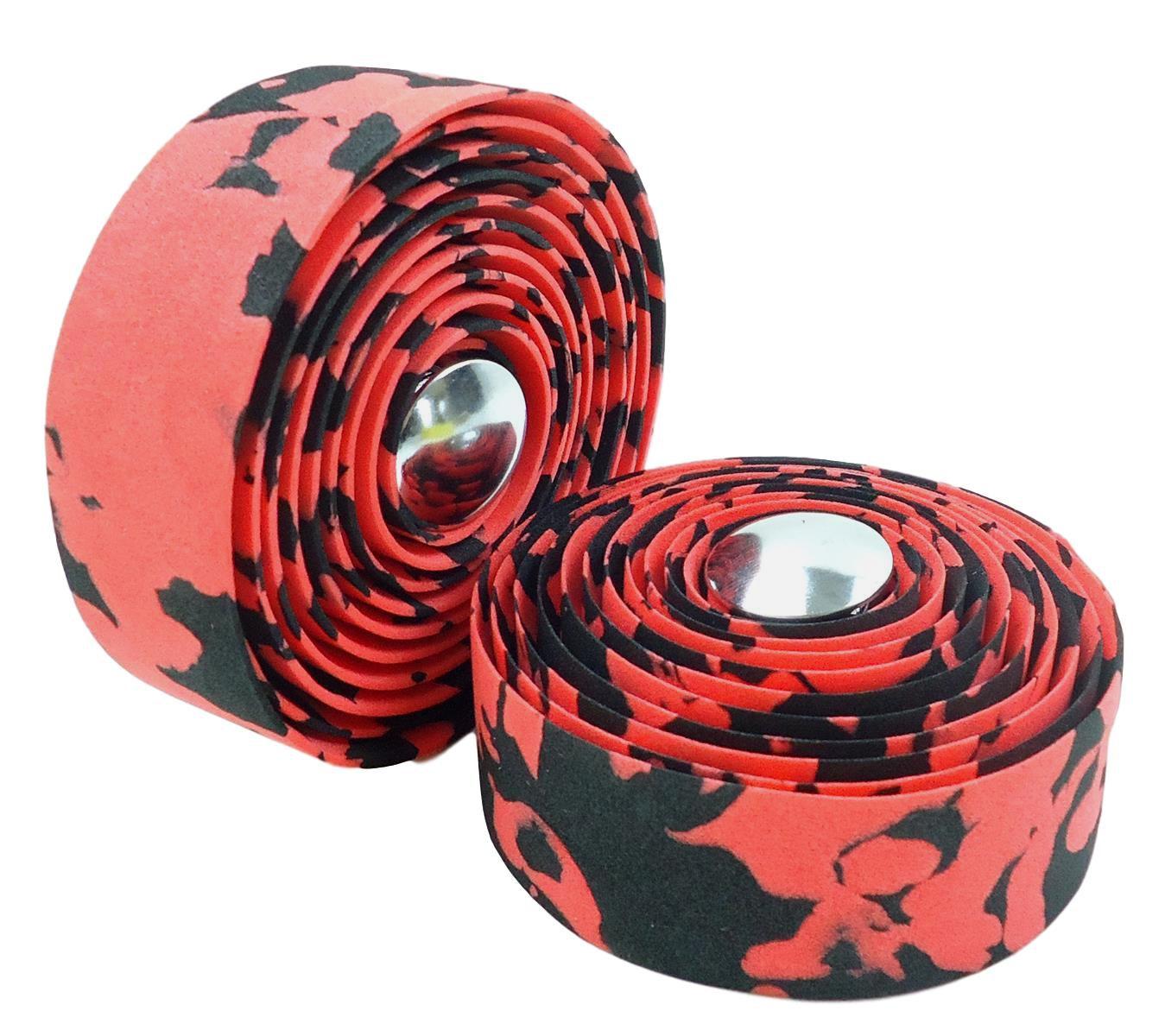 Fita de Guidão para Bicicletas Road Speed JWS Cor Vermelha com Preto