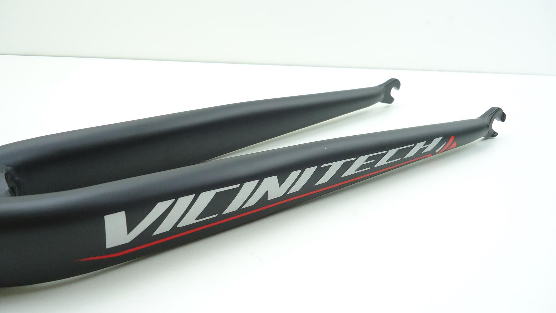 Garfo Bicicleta Speed Vicinitech Aro 700 em Aluminio Espiga Reta