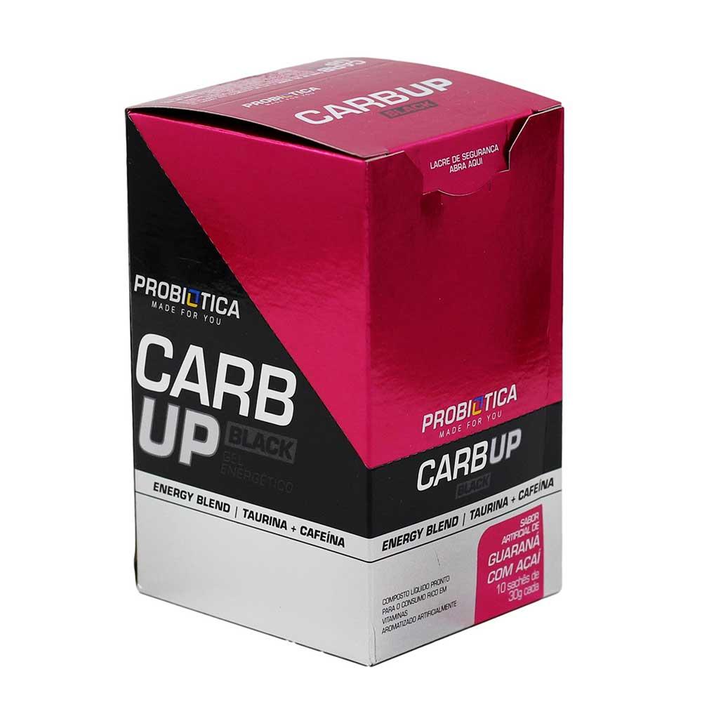 Gel Energético Probiotica Carb Up Black com Cafeína Açaí com Guaraná com 10 unidades
