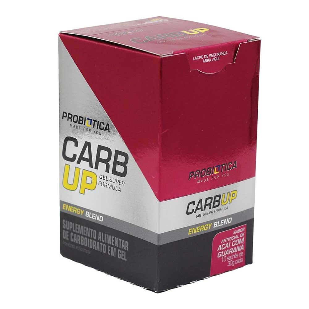 Gel Energético Probiotica Carb Up Açaí com Guaraná com 10 unidades para Ciclistas Corredores Aventura