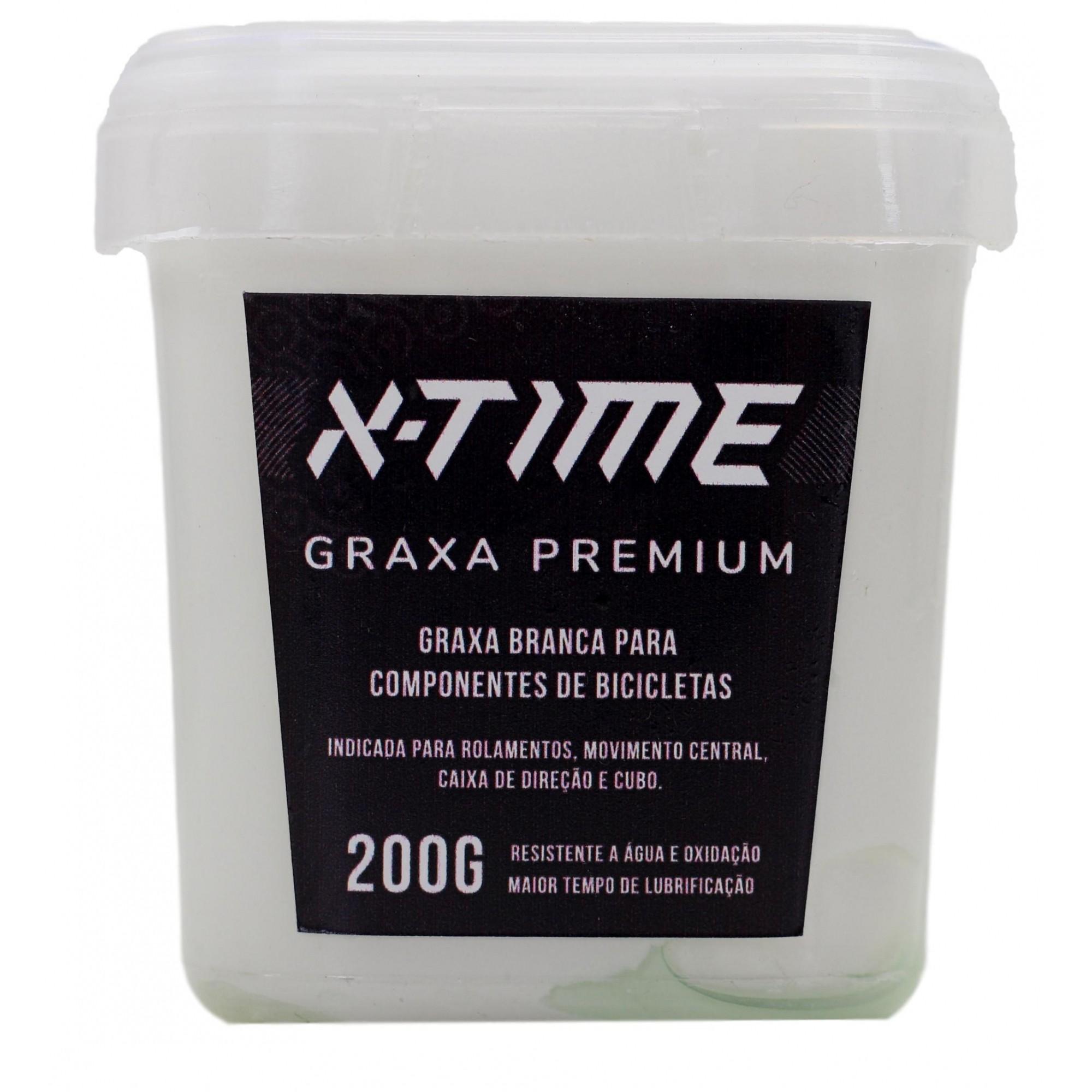 Graxa Branca X-time Premium para Rolamentos Cubos e Partes Bicicletas 200 gramas