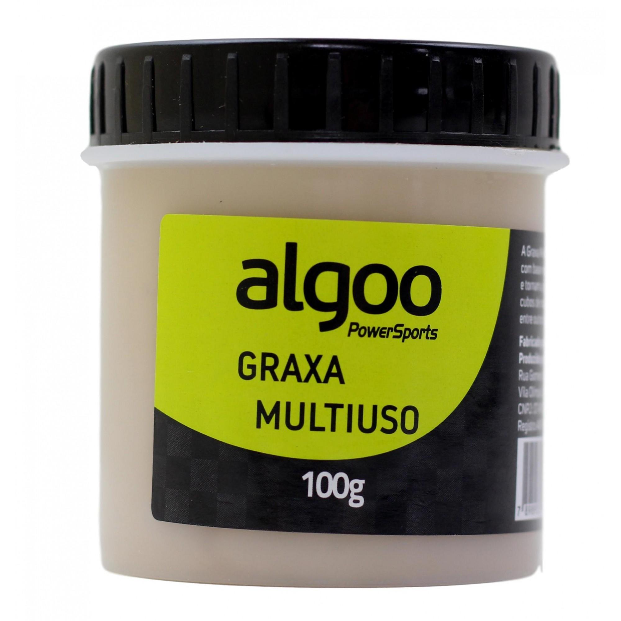 Graxa Multiuso para Bicicletas Algoo Pro 100 gramas Para Rolamentos Caixas de Direção e Partes Bicicleta